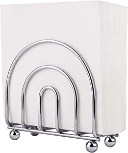 Paper Napkin Holder Tissue Dispenser for Kitchen Countertops, Dining Table, Picnic Table, Indoor & Outdoor Use, Chrome Finish