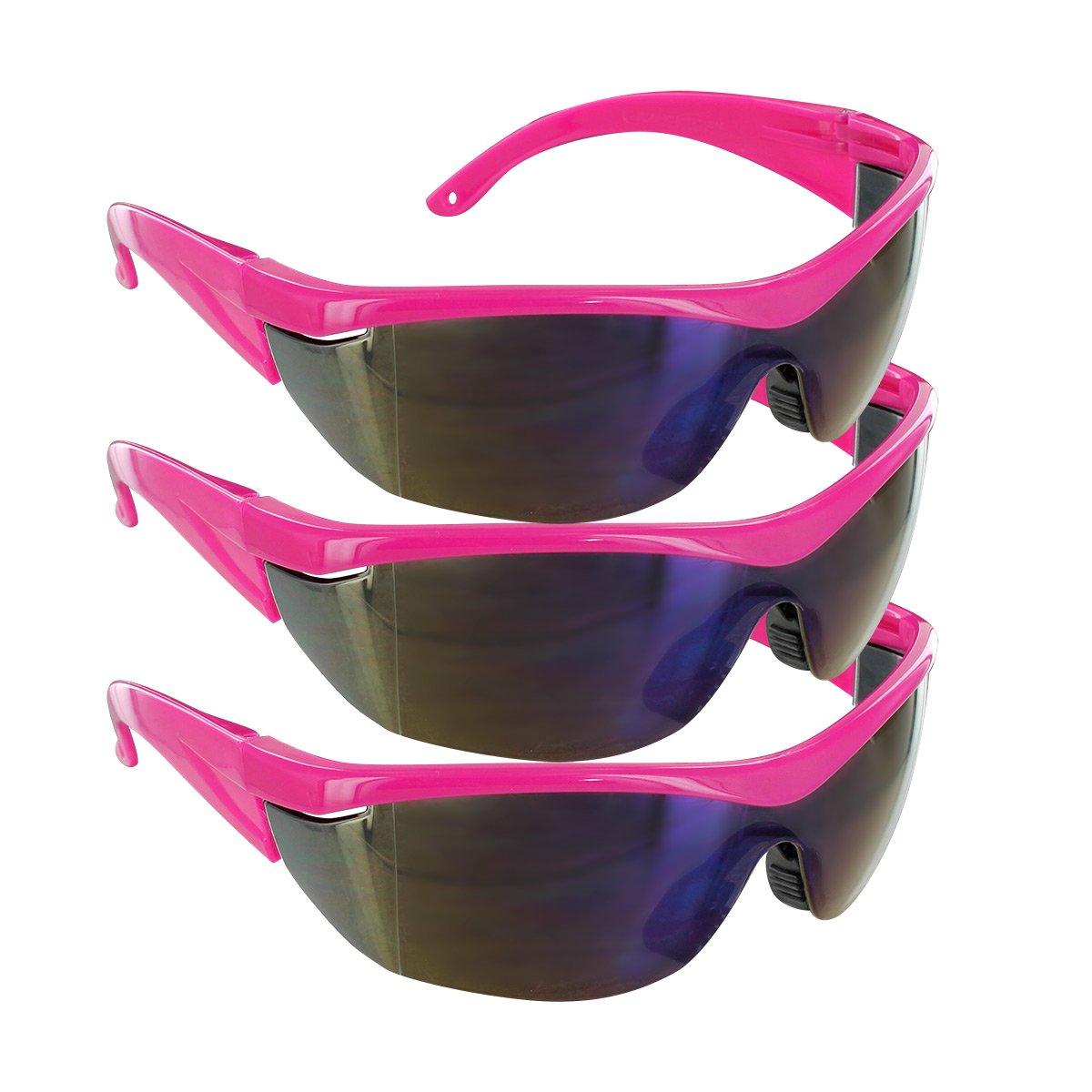 12 Pack Online Stores SFTEYSG1000021196-PNK-CLRR-C12 Safety Girl Navigator Safety Glasses Pink Frame Clear