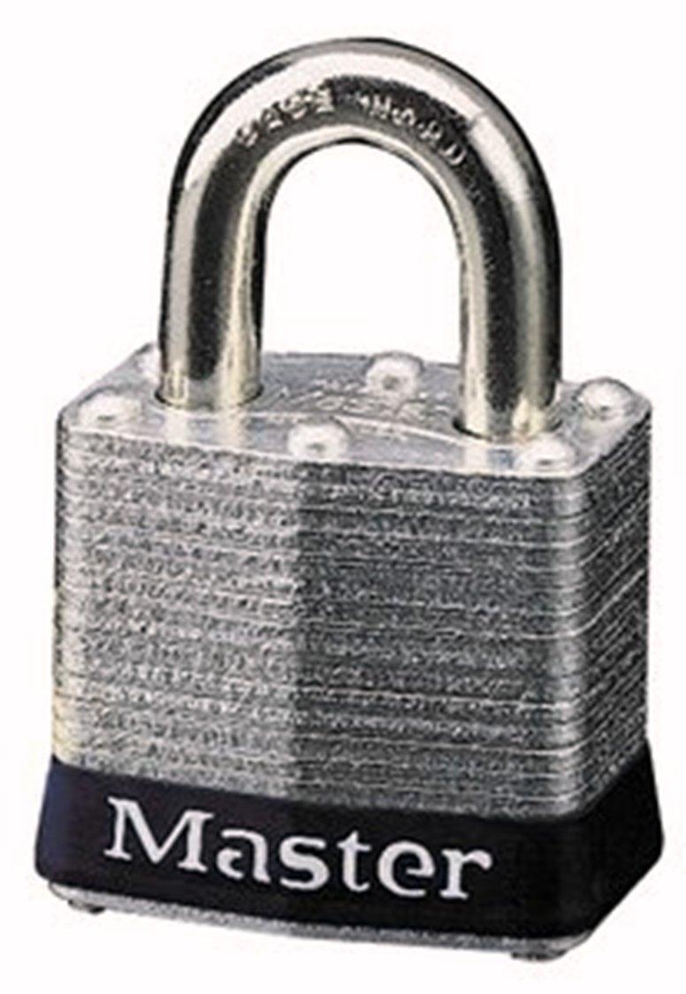 Master Lock 3BLK No. 3 Safety Lockout Padlock, Steel Body, Black Bumper