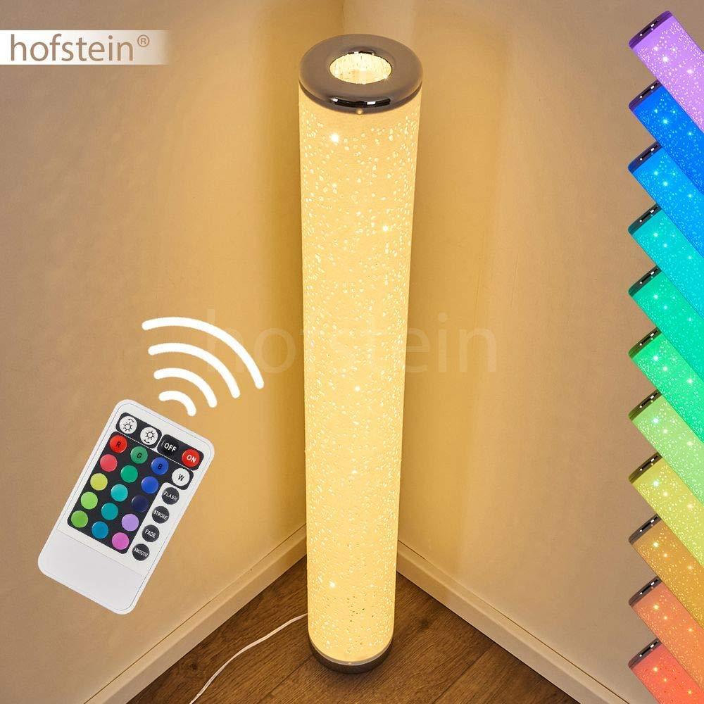 3000 Kelvin /É fornita di telecomando cambiacolori e produce un effetto glitter. Lampada da terra LED dimmerabile e RGB Tumba in metallo e in tessuto bianco luce calda 1 luce 8 Watt 700 Lumen
