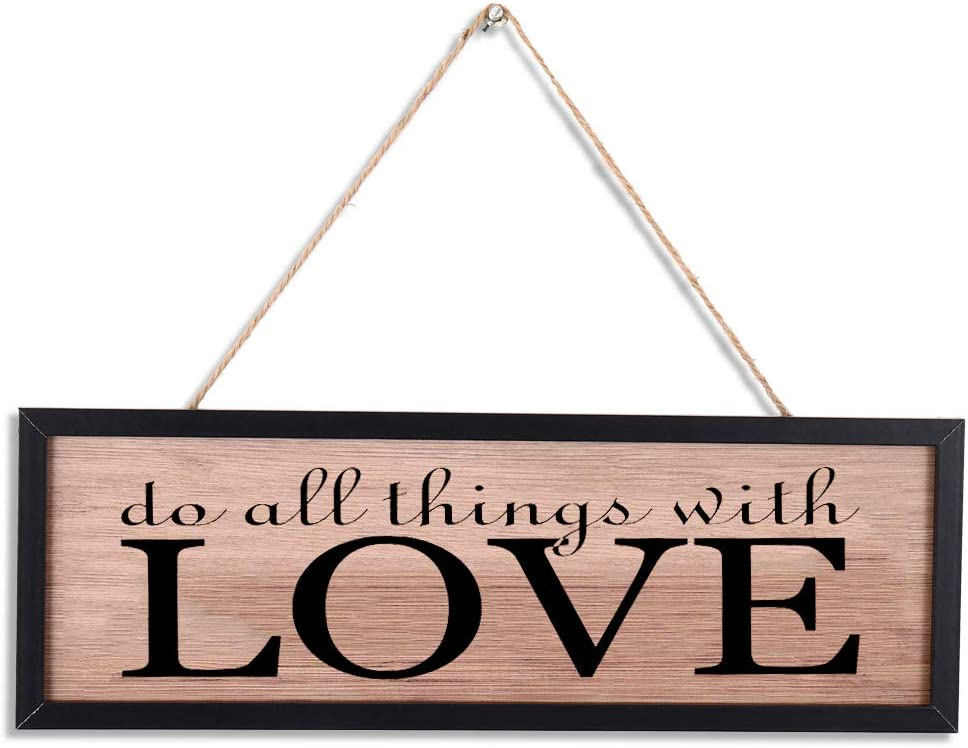 Amazon Com Rustic Wood Wall Art Sign Board Love Retro Vintage Slat Hanging Framed Wall Decorations Home Wall Decor Gift For Living Room Bedroom Kitchen Dining Room Farmhouse Entryway Sign Everything Else
