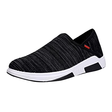 Mens Slip On Casual Trainers Mesh Running Walking Hiking Gym Sports Shoes