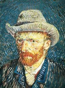 Clementoni - Puzzle 500 piezas Autorretrato con Sombrero de Fieltro Van Gogh 30317.5