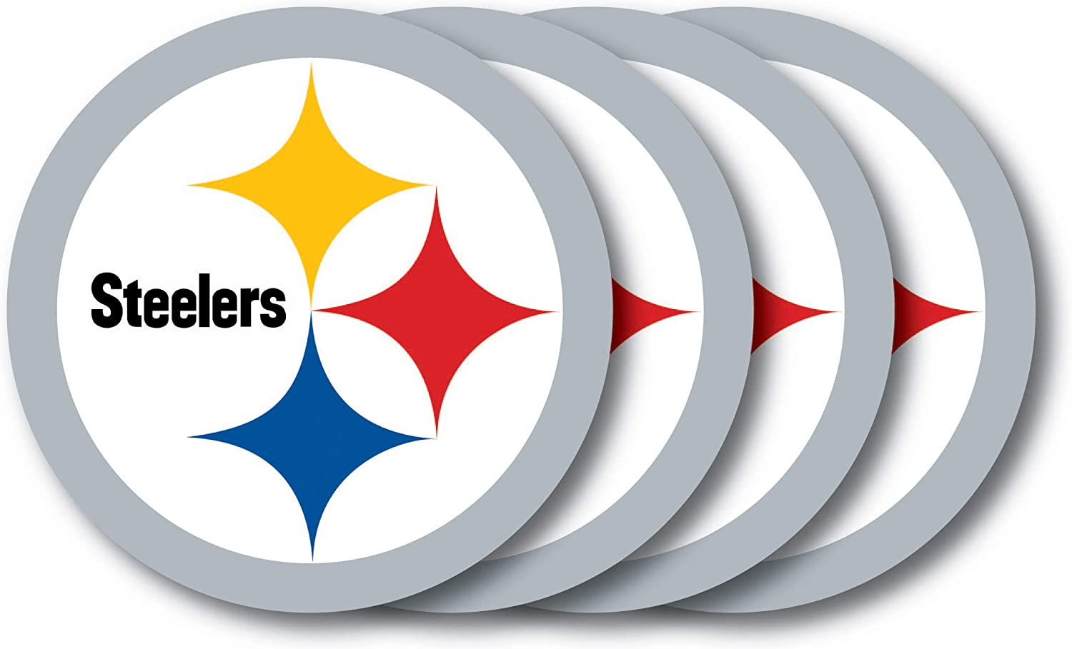 NFL Pittsburgh Steelers Vinyl Coaster Set (Pack of 4)