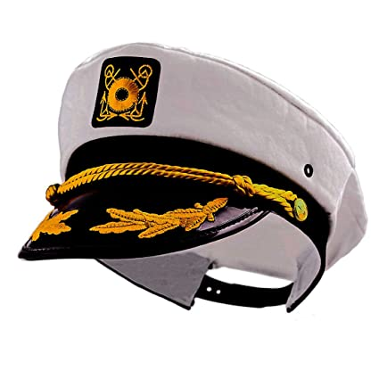 1a1f8ed3a Captain Yacht Adjustable Flagship Party White Sailing Cap - One Size Fits  All!