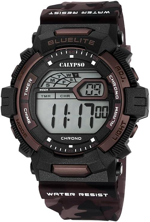 Calypso Hombre Reloj Digital con Pantalla LCD Pantalla Digital Dial y Correa de plástico Multicolor k5693/3