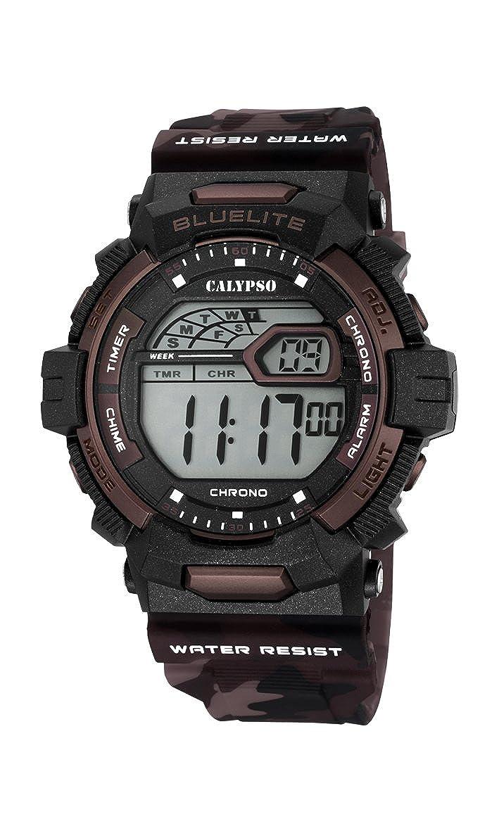 Calypso Hombre Reloj Digital con Pantalla LCD Pantalla Digital Dial y Correa de plástico k5693/3