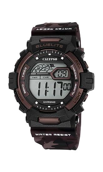 Calypso Hombre Reloj Digital con Pantalla LCD Pantalla Digital Dial y Correa de plástico k5693/3: Amazon.es: Relojes