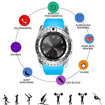 Amazon.com: Onbio V8S - Reloj de pulsera con pantalla táctil ...