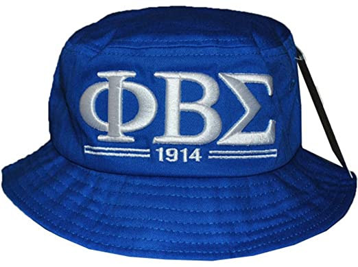 Image Unavailable. Image not available for. Color  Phi Beta Sigma  Fraternity Mens New Bucket Hat Blue f1e65a957bd