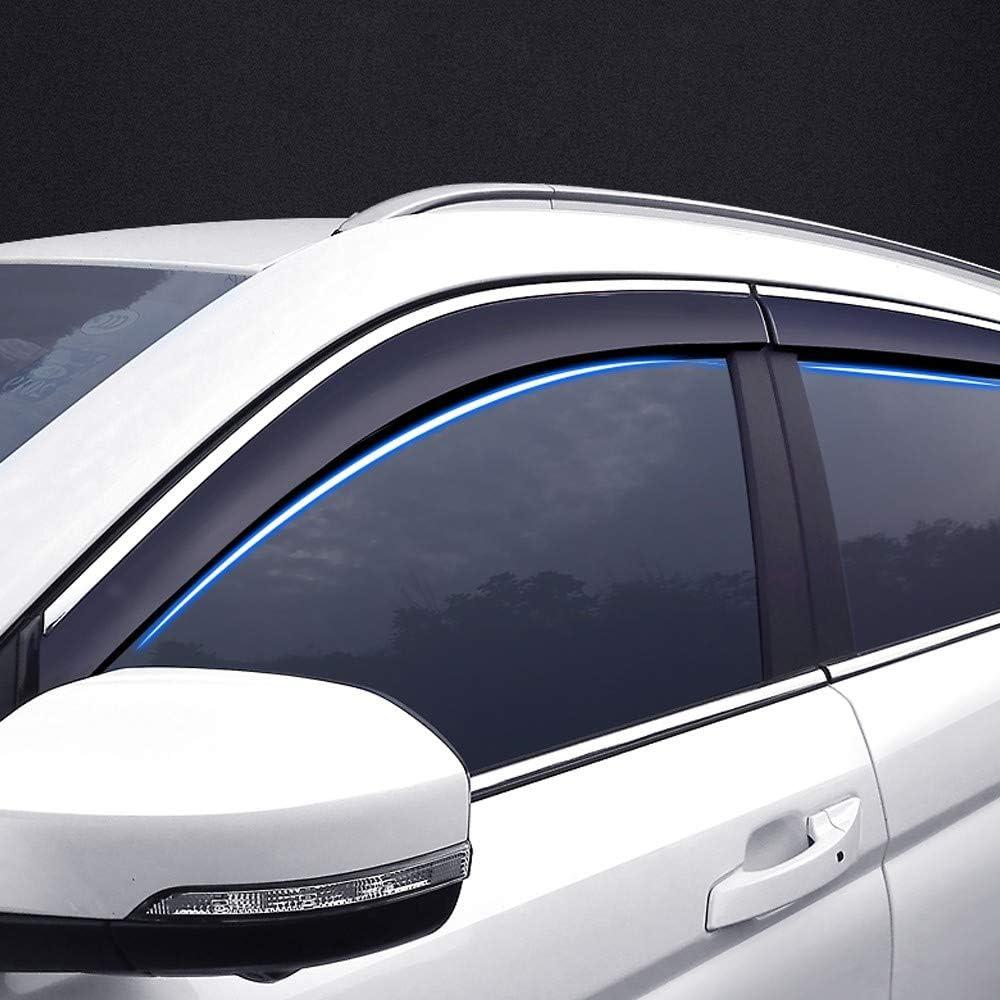 Vetri Laterali in Vetro Acrilico Parasole Parasole per Pioggia E Neve Xtrdye Deflettori per Auto Compatibili con Nissan Qashqai 4 Pezzi 2008-2015