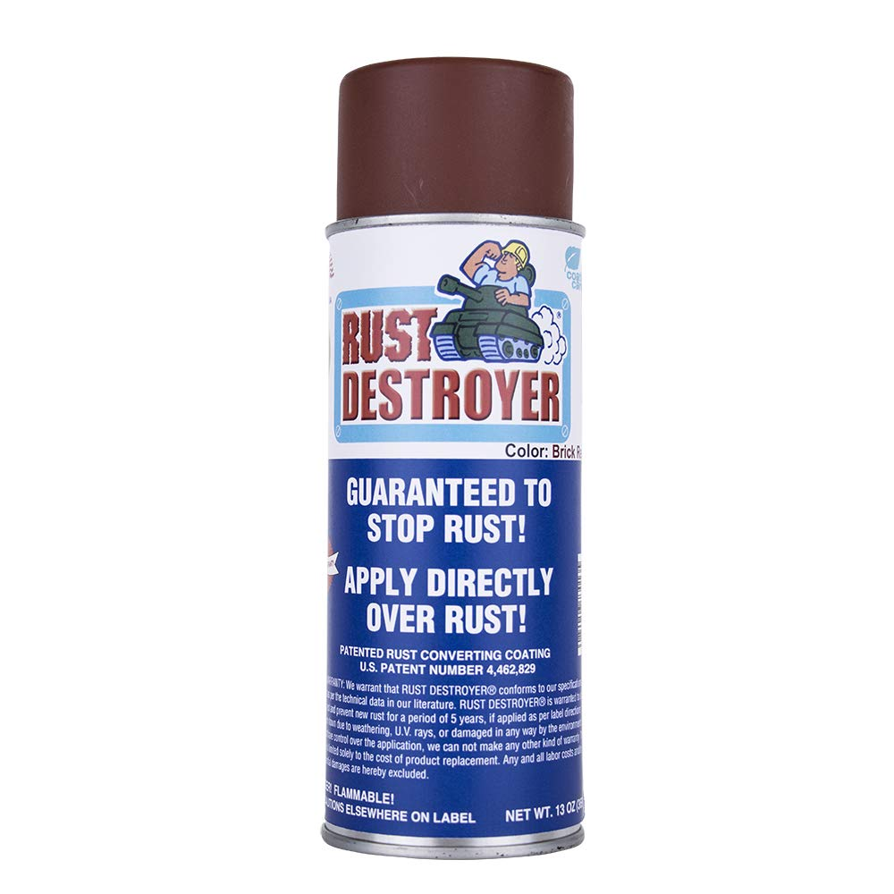 Advanced Protective Products Rust Destroyer Oil Base Red Primer Spray, 13-Ounce Aerosol
