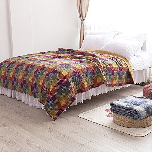 QAZSDF Cotton Old Coarse Cloth Quilted Air Conditioner is Office Bedroom Outdoor Hotel Home Indoor Cab (180200CM) (Fabric Holidays Quilt Cotton)
