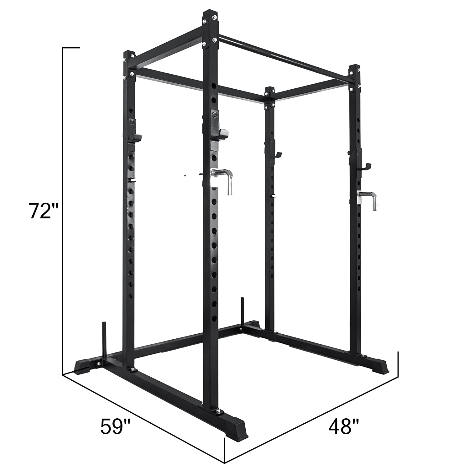VEVOR Rack Cage System 71.5 Power Rack Solid Steel Full Cage Power Rack T-2 Power Rack Squat Cage Accommodate Different Heights and Exercises