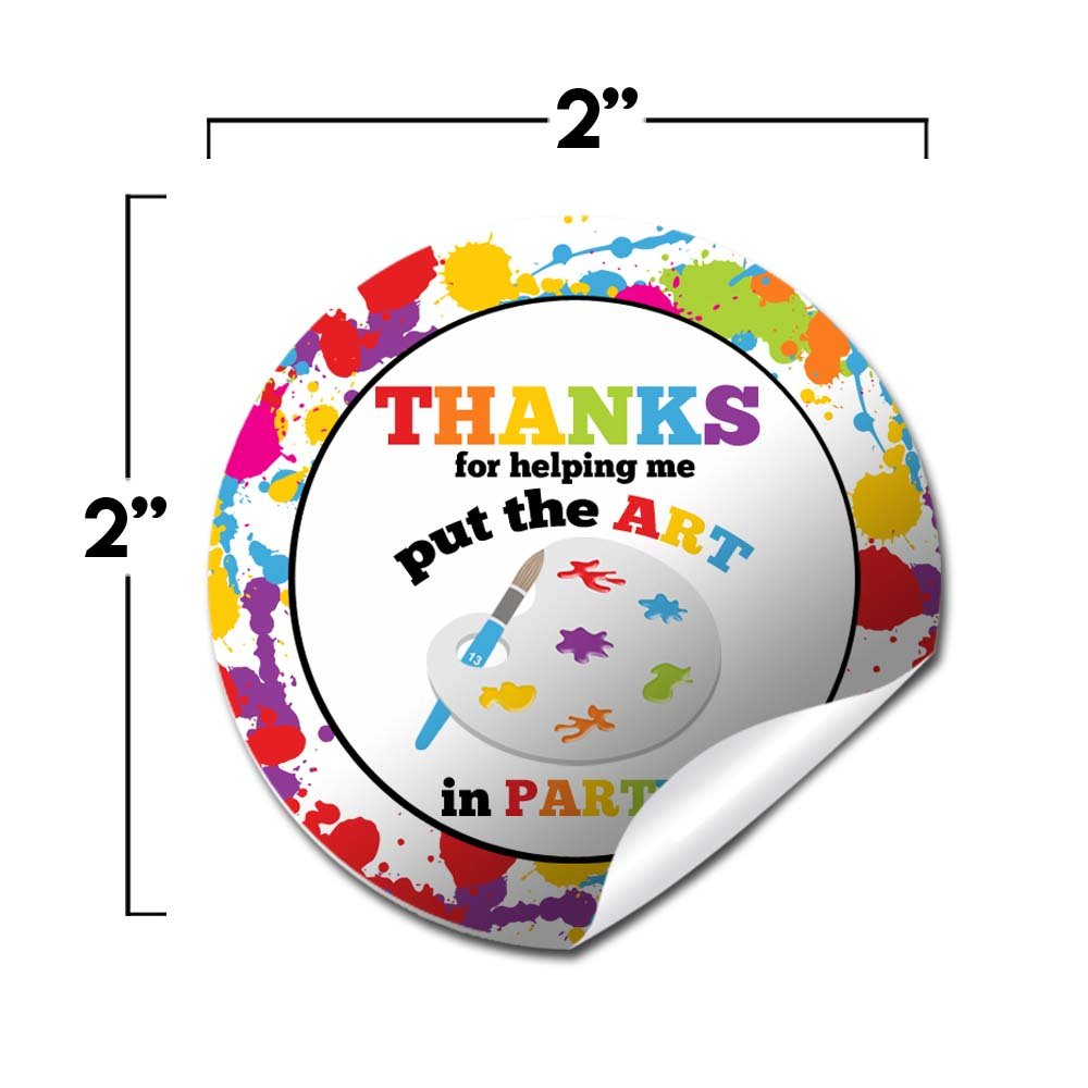 Amazon com art party circle stickers by amandacreation great for party favors envelope seals goodie