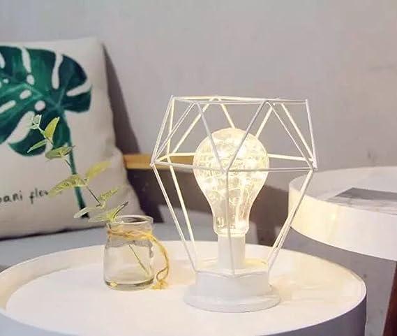 Lámpara de Mesa de Metal,SUAVER Lampara Escritorio forma de ...