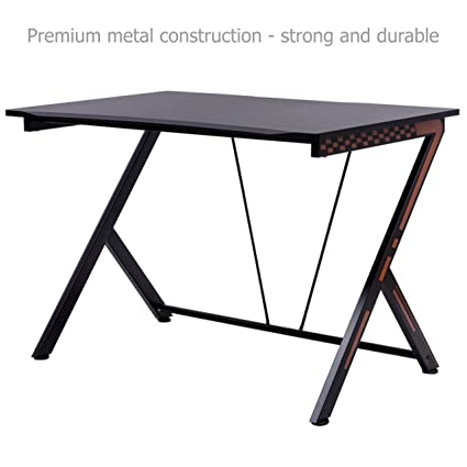Amazoncom Modern Computer Laptop Gaming Desk Space Saving Design
