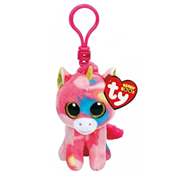 f86ed901535 Amazon.com  Claires Accessories TY Beanie Boos Fantasia the Unicorn Key  ring Clip  Claires  Toys   Games
