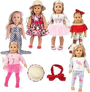 american girsl doll unicorn 11pc american girsl doll clothes 18 inch Doll Clothes American girsl Doll Accessories ,American girsl Doll Unicorn Clothes,American girsl Doll Unicorn Accessories and Clot
