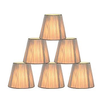 Eastlion 6 Stück Paket Transparent E14 Schraube String Lampenschirm Für  Kerze Kronleuchter Lampe, Wandleuchte Und