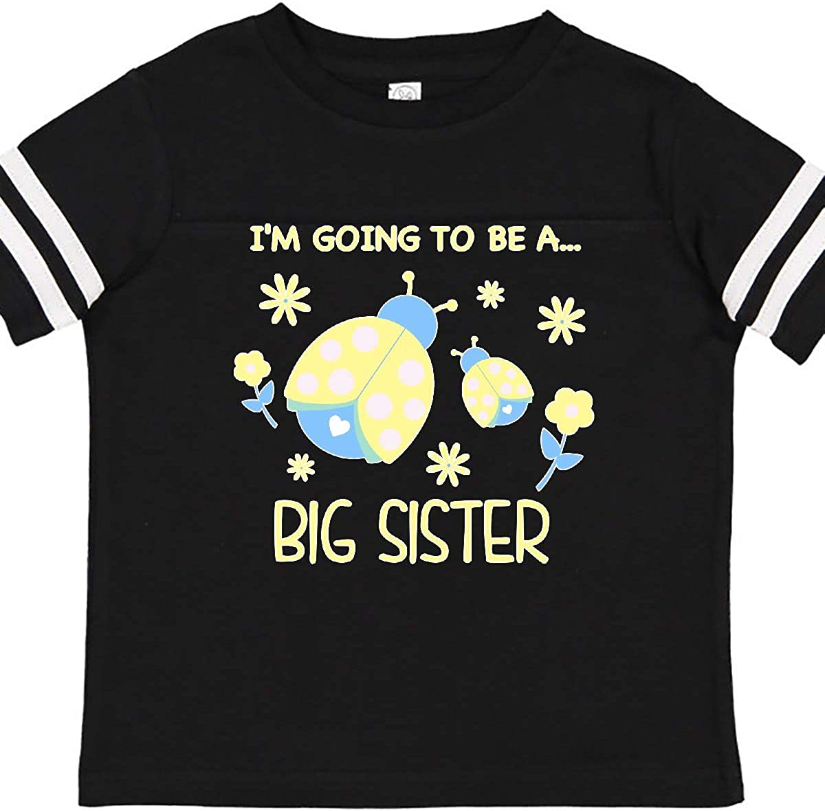 inktastic Im Gonna Be a Sister with Ladybugs Toddler T-Shirt