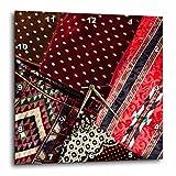 3dRose Danita Delimont - Textiles - UAE, Dubai, Deira. Souvenir fabric - 15x15 Wall Clock (dpp_277113_3)