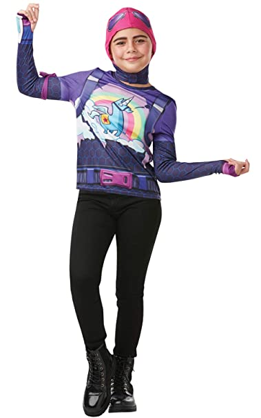 Amazon.com: Rubies Fortnite Brite Bomber Teen Disfraz Top ...
