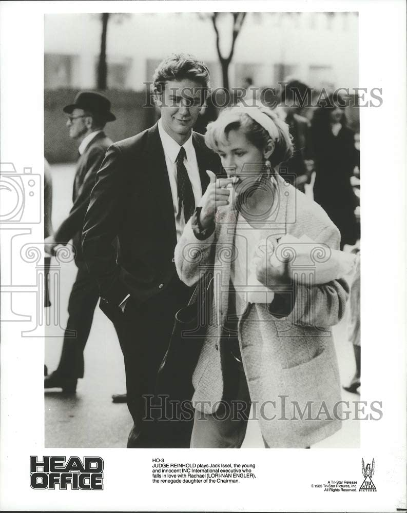 Historic Images - 1985 Press Photo Judge Reinhold and Lori-Nan Engler in Head Office. - spp05006