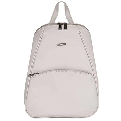 b85abe9ec8aa Nova Leathers Kelly Womens Leather Backpack One Size Dove Grey Leather