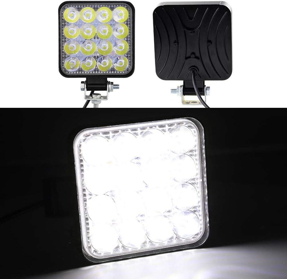RENNICOCO Luces LED Barra de Luces de Trabajo LED Lámpara de Punto Offroad 4WD SUV ATV Truck Boat Bar Lamp, IP67 Foco de conducción Spot Beam Light Lámpara para automóvil Fog Spot Light 12V 24V