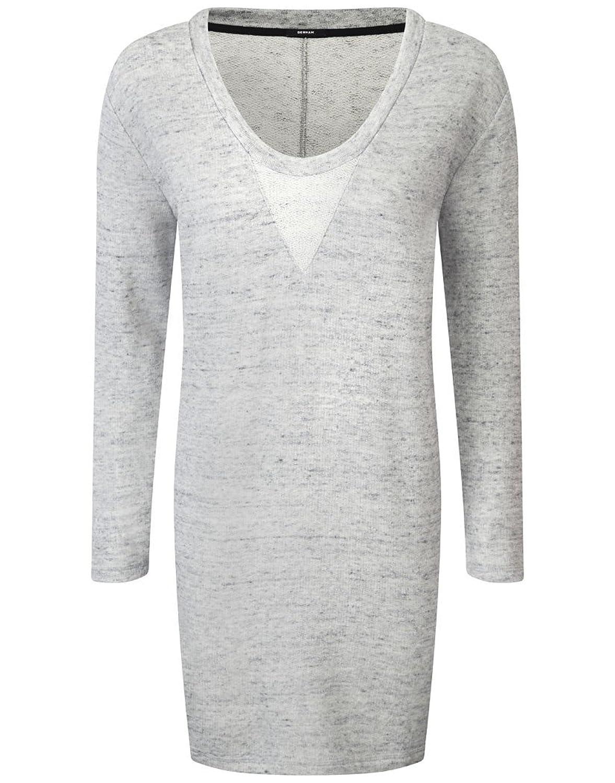 Womens Denham Wardour Long Sleeved Dress - Grey Marl