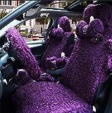 Women's premium head of car seat covers, Purple (1 pairs per capita)