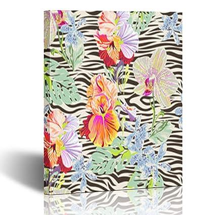 Amazon com: Alfredon Painting Canvas Wall Art Print Tropical Flowers