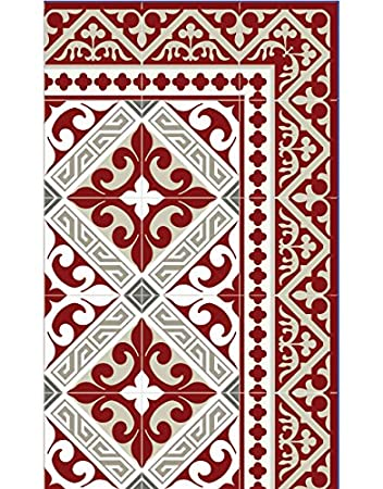 Beija Flor Flor De Lis Indoor Carpet Rectangle Vinyl Multicolor ...