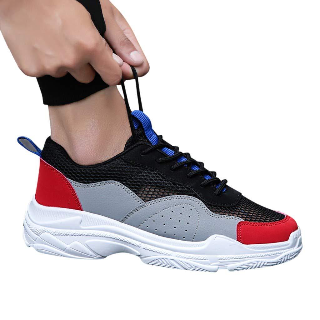Knowin Outdoor Sports Hollow Sports Freizeitschuhe Sneaker Herren Sommer Schuhe Turnschuhe Sportliche Tennis Laufschuhe Laufen L/ässt Atmungsaktiv rutschfeste Mode L/ässig Weisem/änner Einfarbig Sneaker