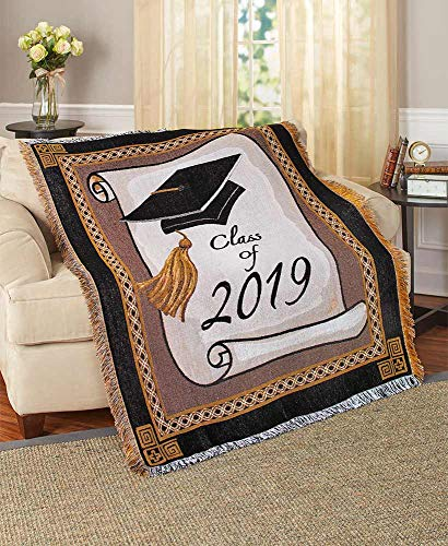 The Lakeside Collection Class of 2019 Woven Jacquard Graduation Throw -