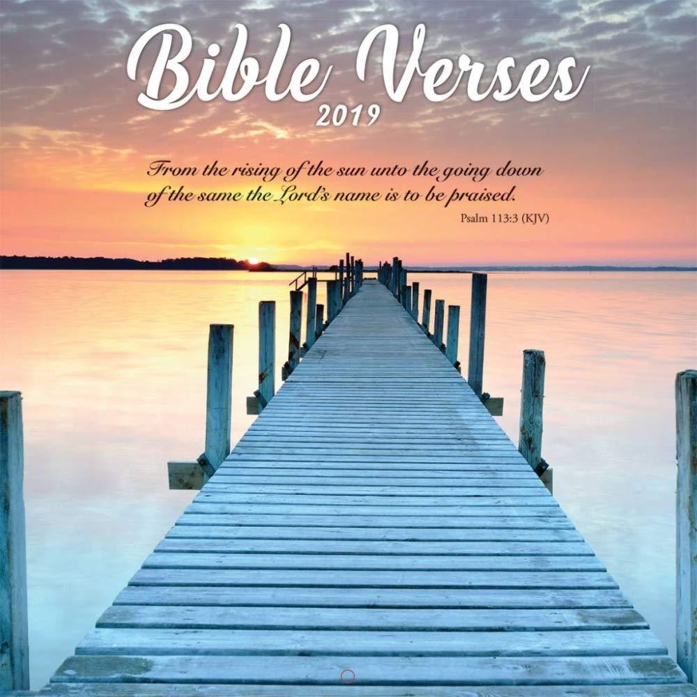 Turner Photo Bible Verses 2019 Wall Calendar (199989400080 Office Wall Calendar (19998940008)