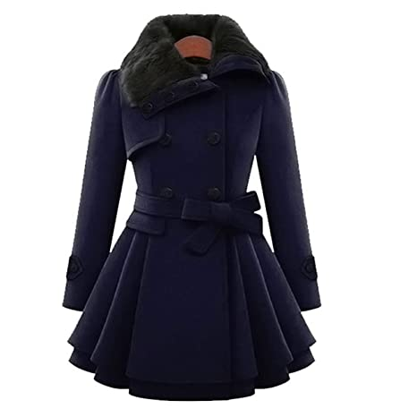 Amazon.com: Cheerful shopping Modern Style 2019 Wool & Blends Coats Female Jacket Windbreaker Plus Size Abrigos Mujer Invierno New: Clothing
