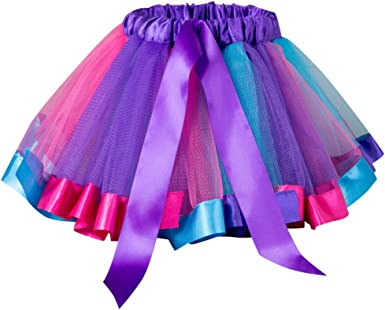 Xmiral Falda Tutu Color Variado de Arco Iris de Lazo con Capas de ...