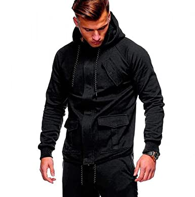 Wrl 2018 Fashion Hoodies Men Sudaderas Hombre Hip Hop Mens Solid Hooded Zipper Hoodie,Small