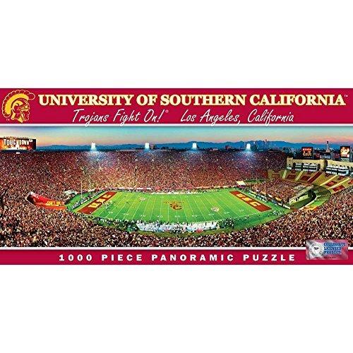 MasterPieces PuzzleCompany NCAA Southern California (USC) Trojans Stadium Panoramic Jigsaw Puzzle (1000-Piece) by (California Panoramic Puzzle)