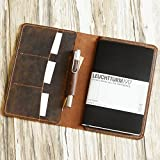 Distressed Leather Leuchtturm1917 Cover, A5 Notebook Cover, portfolio Agenda Cover Diary Cover Personalized, Handmade