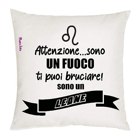 Loza Idea cojín 40 x 40 con Texto Signo Zodiacal león Regalo ...