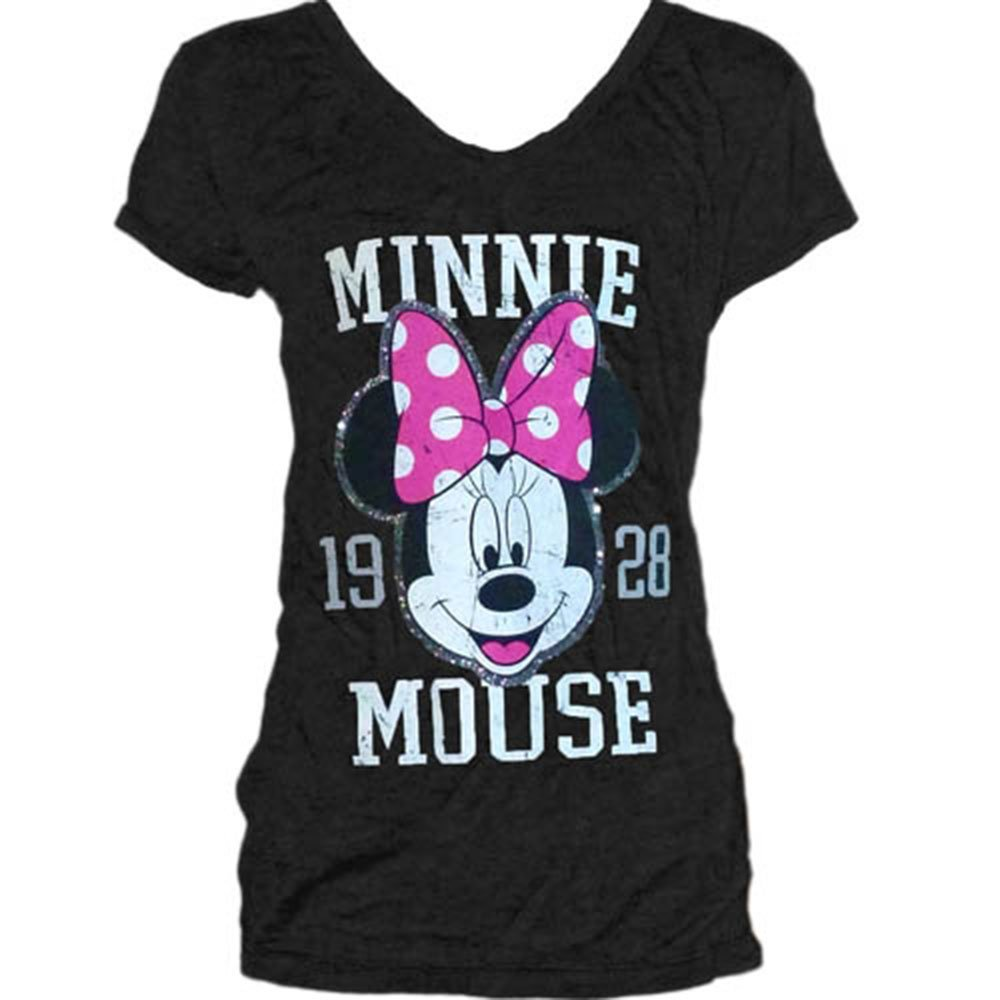 d2608bef5 Amazon.com: Disney Womens Fashion T Shirt Minnie Mouse 1928, Black: Clothing