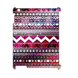 Customized Aztec Chevron Personalized Hard Back 3D Cover Case for iPad2,3,4