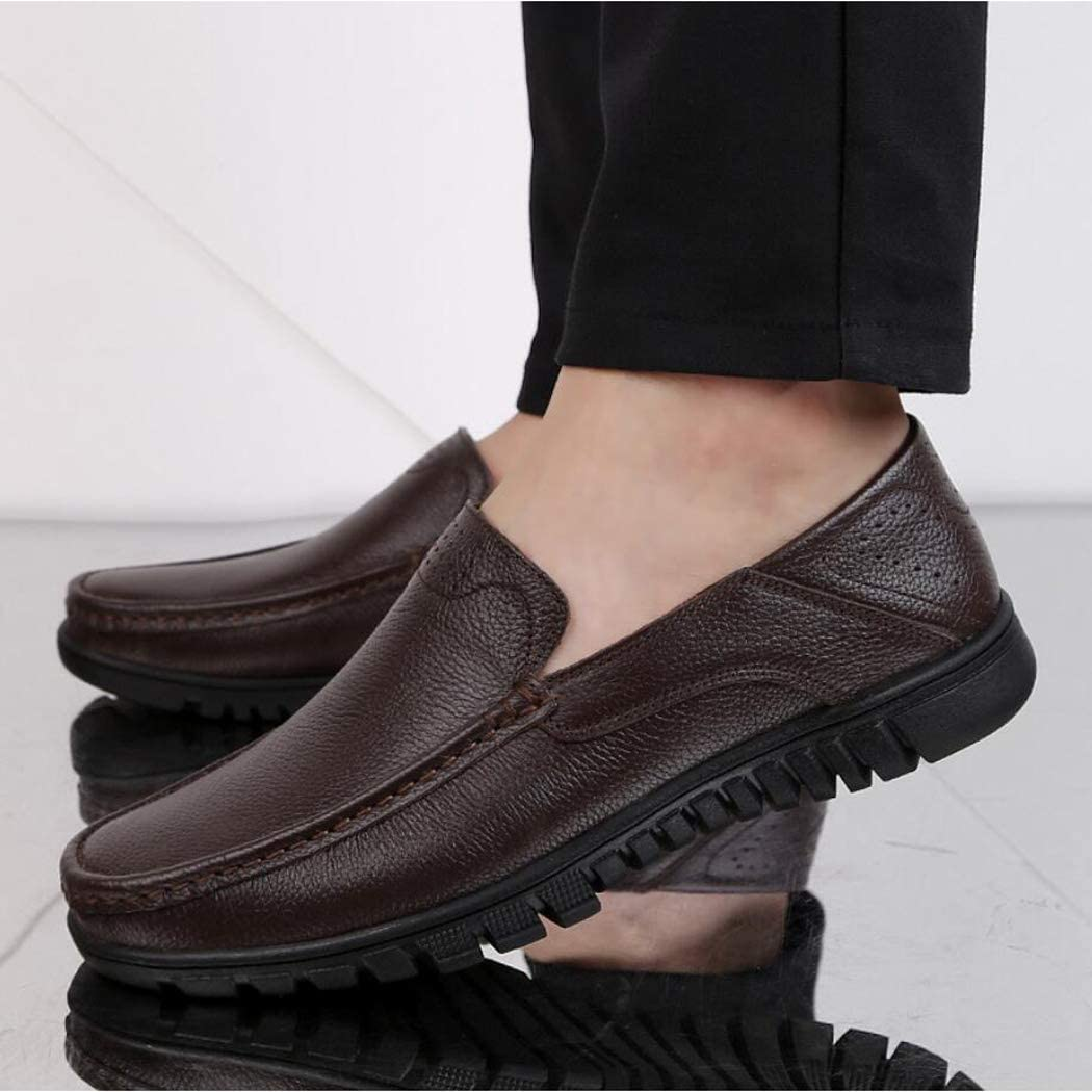 Slip-on or Touch Fastening Shoes Zaqxs Mens//Gents Black Slip On Wider Fitting Casual Shoes Leather-Lined Lightweight Formal Business Work Comfort Lace-Up