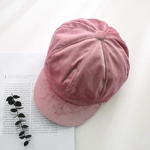 Sombrero Mujer Terciopelo Dorado Gorro Octogonal Arte Ocio ...