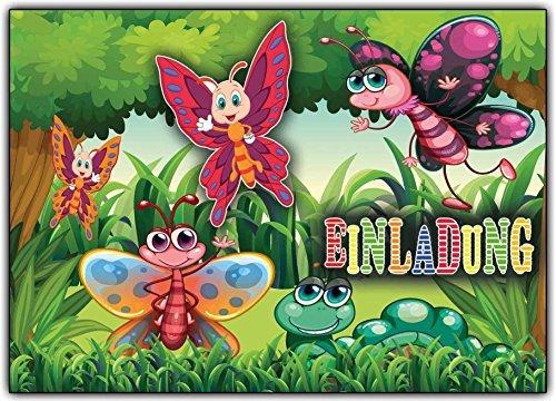 Schmetterling Einladungskarten Zum Kindergeburtstag Schmetterlinge (8  Stück): Amazon.de: Bürobedarf U0026 Schreibwaren
