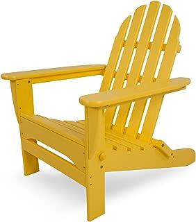 product image for POLYWOOD AD5030LE Classic Folding Adirondack Chair, Lemon