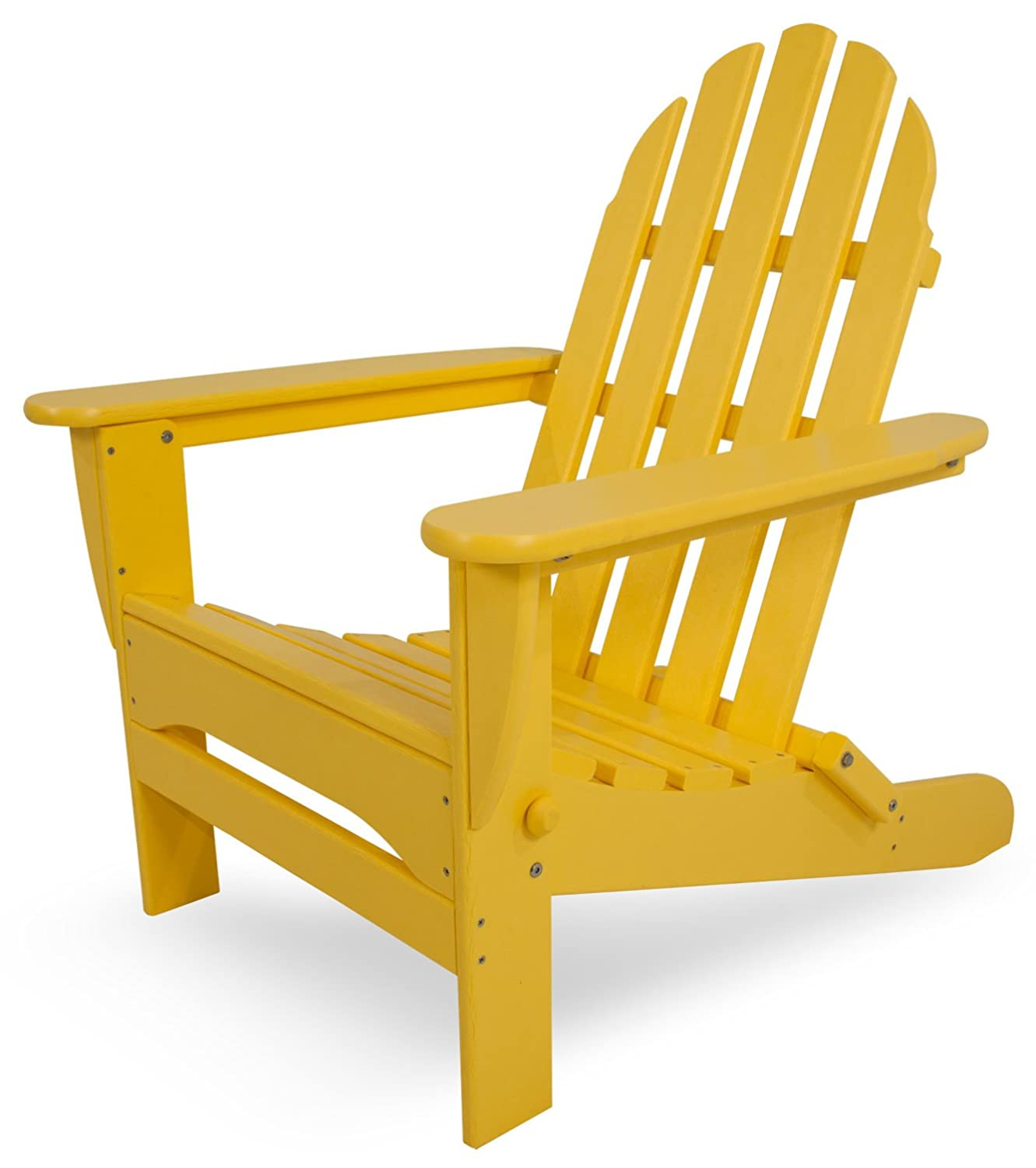 POLYWOOD AD5030LE Classic Folding Adirondack Chair, Lemon